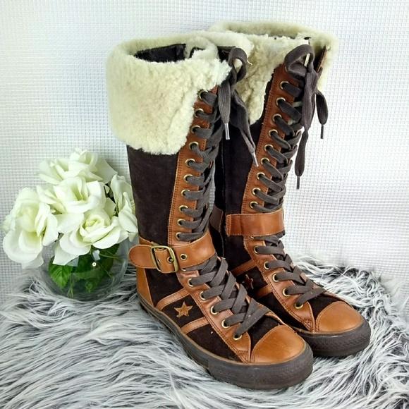 Suede Fur Trim Sneaker Boots | Poshmark